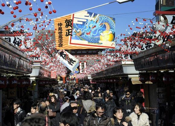 Belaukiant Naujųjų metų Japonijoje