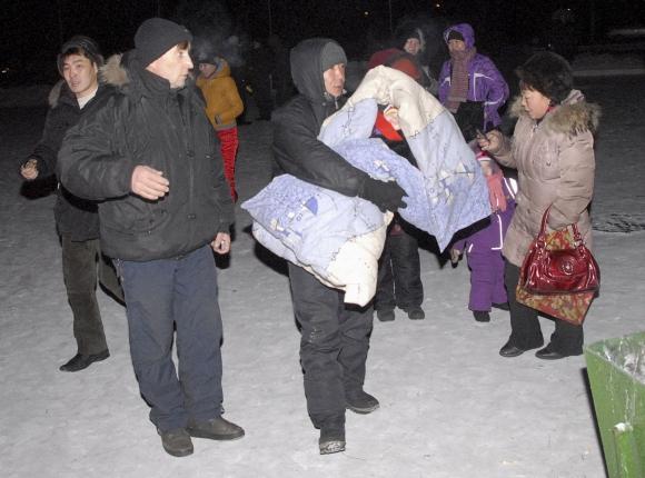 Žemės drebėjimas išvijo Kyzylo gyventojus į gatves.