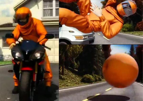 """Motociklininko """"oro pagalvė"""""""