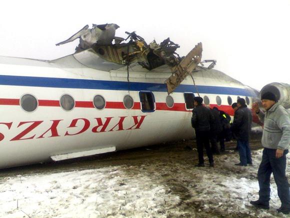 Apvirtęs Tu-134 keleivinis lėktuvas