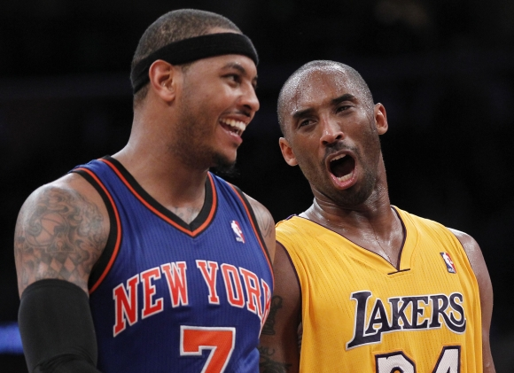 Carmelo Anthony ir Kobe Bryantas