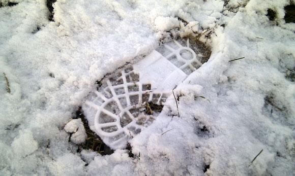 Pėdsakas sniege