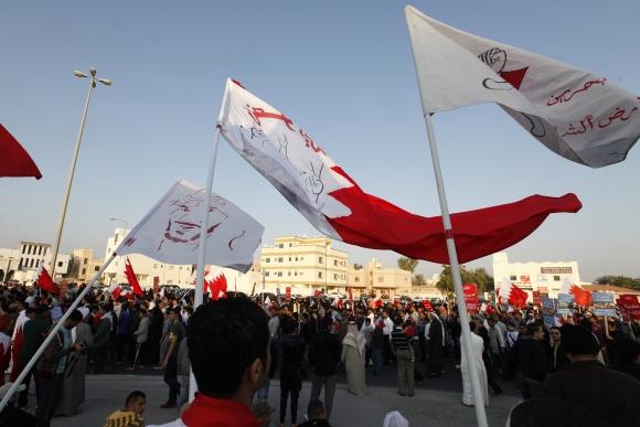 Bahreino protestuotojai