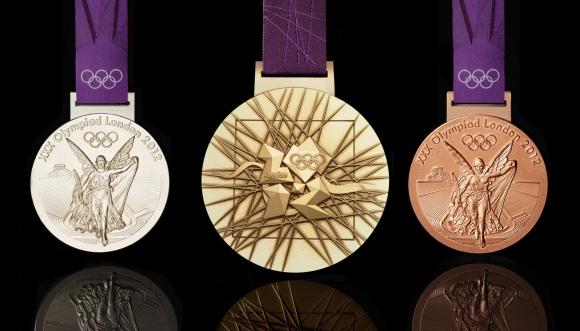 2012 metų Londono olimpiados medaliai.