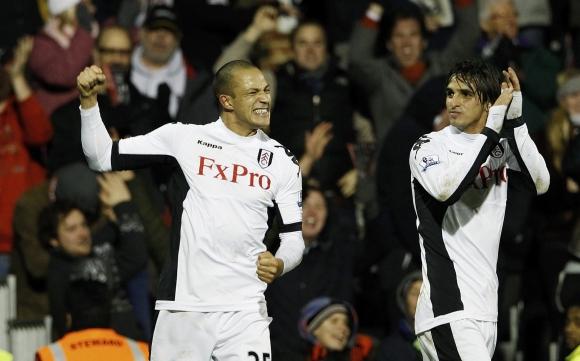 """""""Fulham"""" futbolininkų džiaugsmas."""