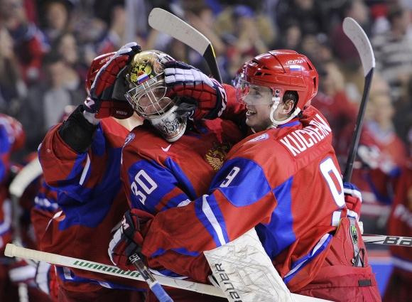 Jaunieji Rusijos ledo ritulininkai.