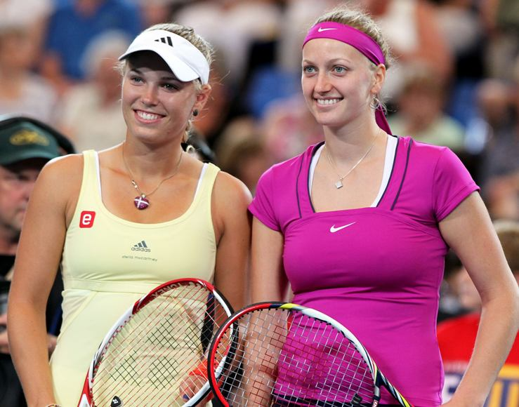 Caroline Wozniacki ir Petra Kvitova
