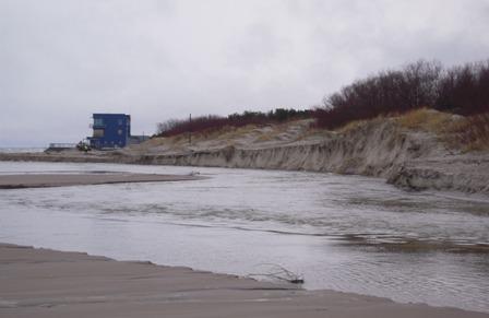 Palangos paplūdimiai per audrą buvo gerokai nuplauti.