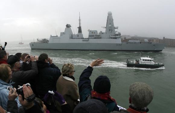 """Didžiosios Britanijos eskadrinis minininkas """"HMS Daring"""""""