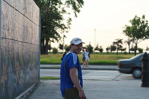 D.Kinderis prieš bėgimą Gruzijoje, Batumio kurorte prie Juodosios jūros