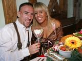 AFP/Scanpix nuotr./Franck Ribery su žmona Wahiba Belhami