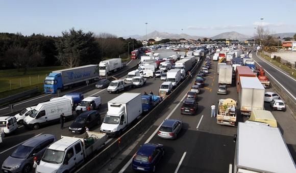 Sunkvežimių vairuotojų streikas Italijoje