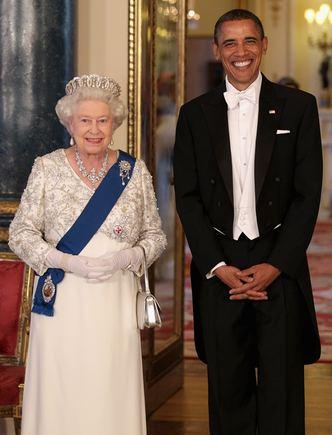 """PA/""""Scanpix"""" nuotr./Didžiosios Britanijos karalienė Elizabeth II ir JAV prezidentas Barackas Obama"""