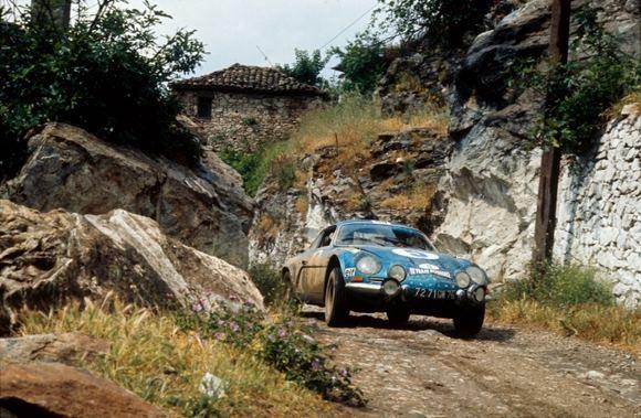 Gamintojo nuotr./1973 m., Renault Alpine A110 Akropolio ralyje, Graikijoje