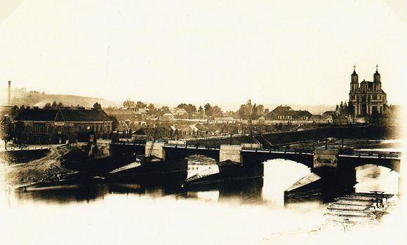 Henriko Kebeikio nuotr./Vilniaus Žaliasis tiltas 1864 m.