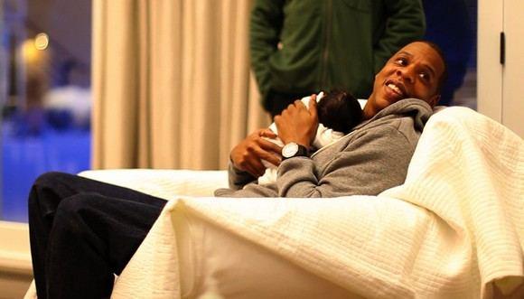 Scanpix nuotr./Jay-Z  su dukrele Blue Ivy Carter