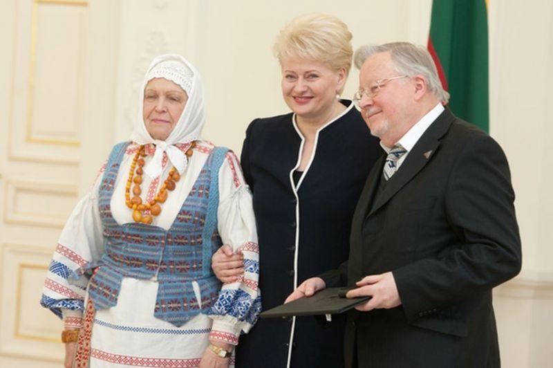 Gražina Ručytė-Landsbergienė, Dalia Grybauskaitė ir Vytautas Landsbergis