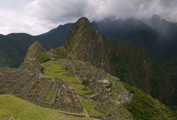 Inkų tvirtovės Maču Pikču liekanos Peru