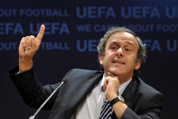 UEFA prezidentas Michelis Platini.