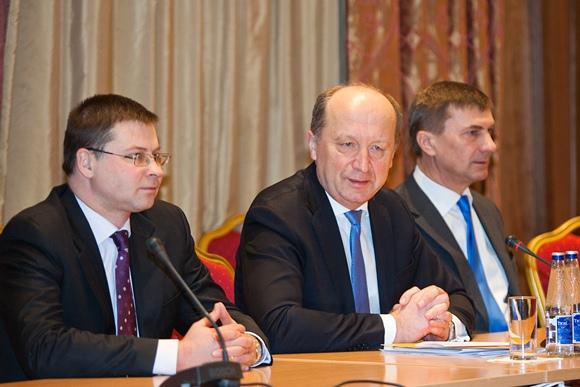 Andrius Kubilius, Valdis Dombrovskis ir Andrus Ansipas