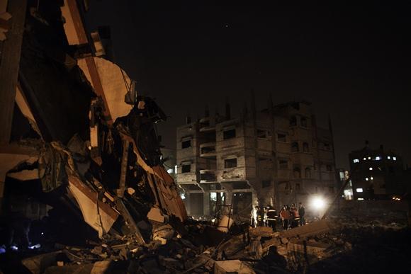 Subombarduotas pastatas Gazos ruože
