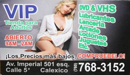 Vip.org.mx nuotr./Scarlett Johansson ant sekso prekių parduotuvės reklaminės kortelės