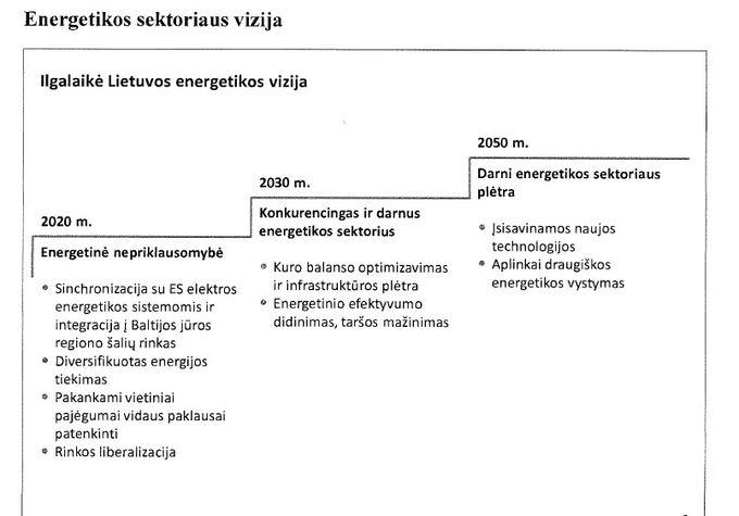 Energetikos sektoriaus vizija/Energetikos sektoriaus vizija
