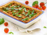 isbandytireceptai.com nuotr. / Pomidorų ir rikotos pyragas.