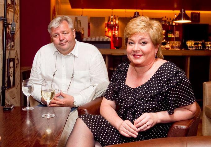 Edita Mildažytė su vyru Gintautu Vyaniausku