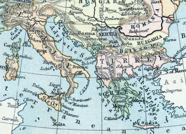 1896 metų Europos žemėlapis