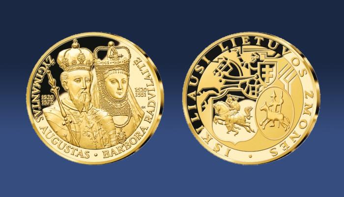 Medalis su Žygimantu Augustu ir Barbora Radvilaite