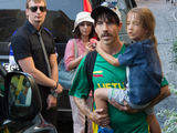 Martyno Siruso/adfoto.lt nuotr./Anthony Kiedis su sūnumi Everly Bearu