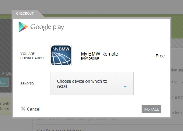 """""""My BMW"""" aplikacija"""
