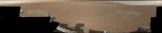 NASA nuotr./Spalvota Geilo kraterio panoraminė fotografija.