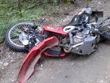 Įvykio liudininko Jaroslavo nuotr./Motociklas įvykio vietoje