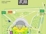 Organizatorių nuotr./Lady Gagos koncerto Vilniuje žemėlapis