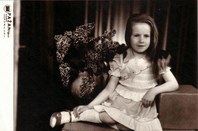 Asmeninio archyvo nuotr./Ingrida Kazlauskaitė vaikystėje