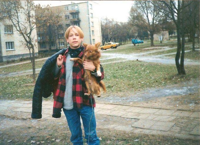 Asmeninio albumo / Žmonės.lt nuotr./Gytis Ivanauskas su augintiniu (15 m.)