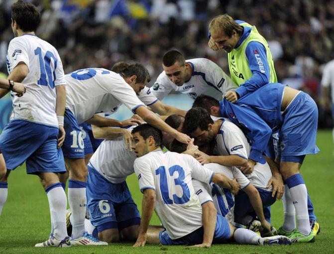 AFP/Scanpix nuotr./Bosnijos ir Hercegovinos futbolo rinktinė