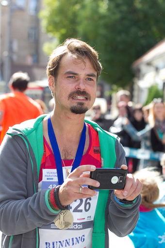 Viganto Ovadnevo nuotr./Vaikų maratono akimirka
