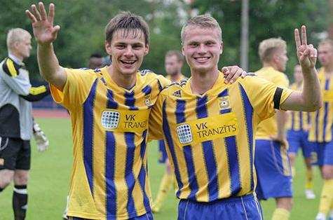"""""""Ventspils"""" futbolininkai."""