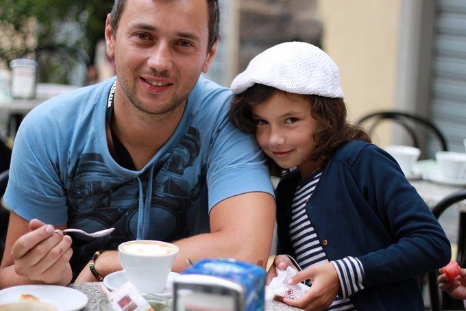 Asmeninio albumo nuotr./Vitalijus Jančenkovas su dukra Ieva Maja