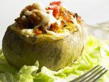 Shutterstock nuotr./Kumpiu įdarytos bulvės