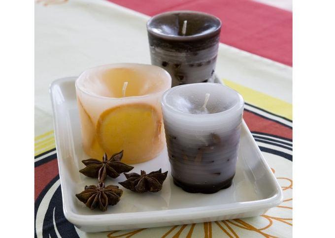 T. Biliūno nuotr./Kvepiančios žvakės