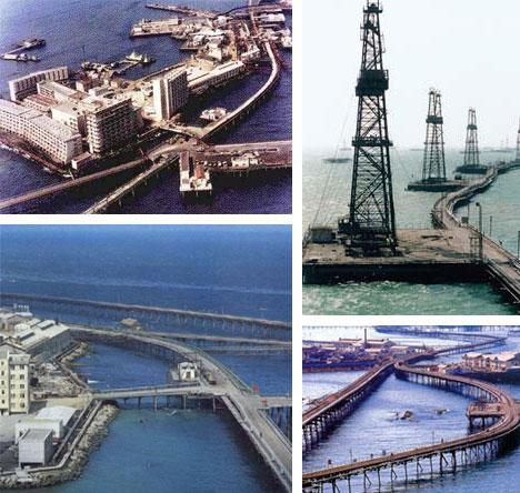 Naftos miestas ant vandens Azerbaidžiane