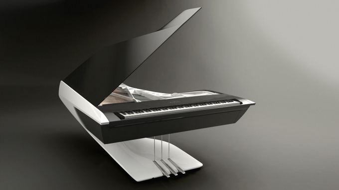 Gamintojo nuotr./Peugeot Design Lab Piano Pleyel fortepijonas