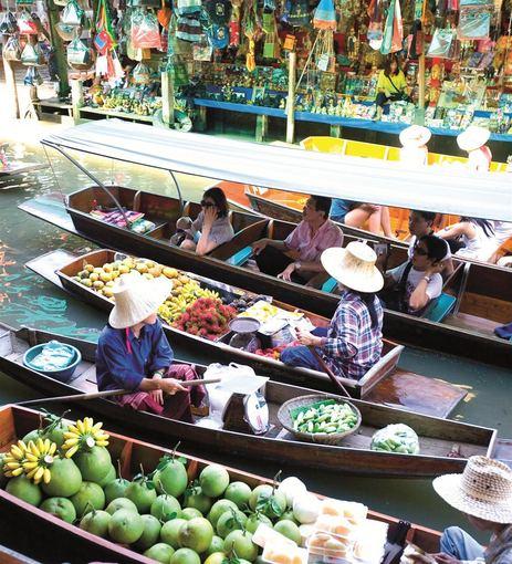 Tailando turgus ant vandens