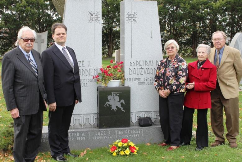 Pagerbtas Lietuvos diplomato Petro Povilo Daužvardžio atminimas