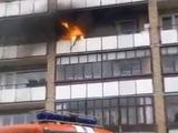 Stop kadras ia įvykio liudininko Katajaus filmuotos medžiagos/Gaisras Elektrėnuose