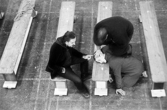 Tomo Ivanausko nuotr./Oskaro Koraunovo spektaklio Katedra repeticija